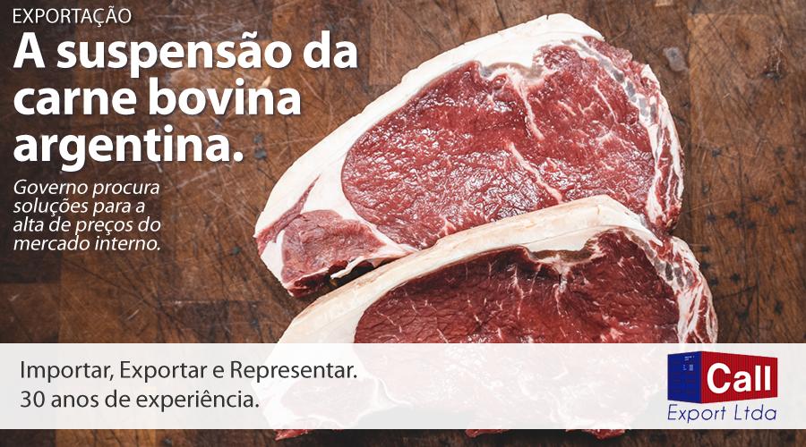 Call Export fala sobre a suspensão da exportação de carne argentina. Imagem: Kyle Mackie no Unsplash.