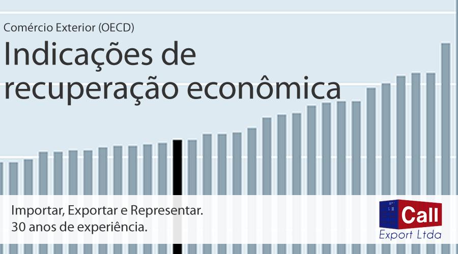 Call Export fala sobre a recuperação econômica do G7. Imagem: OCDE GDP Data Chart.
